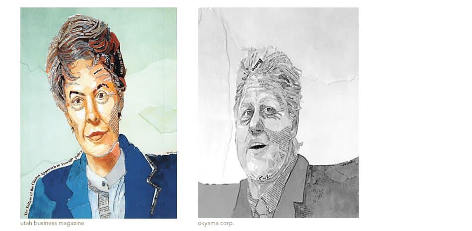 collage portraits clinton